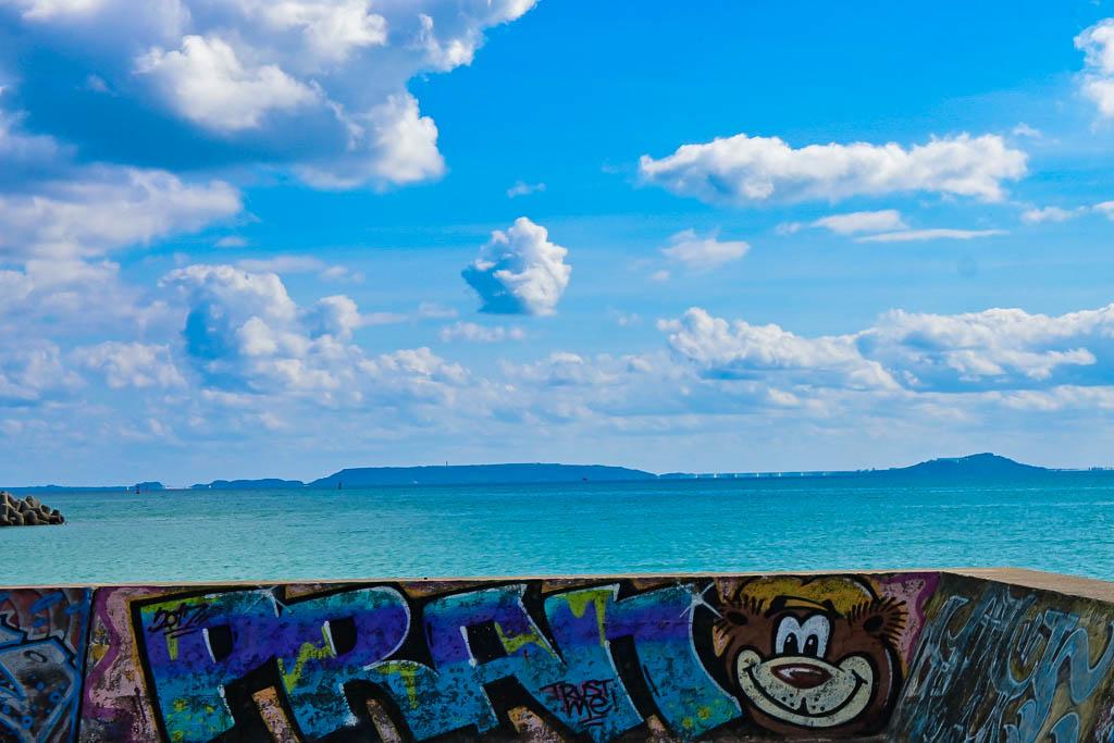 沖縄の防波堤